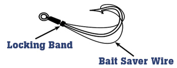 Hold Bait on a Hook-Bait Saver Hook Diagram